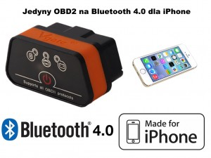 Interfejs diagnostyczny OBD2 Bluetooth 4.0 jedyny Made for iPhone