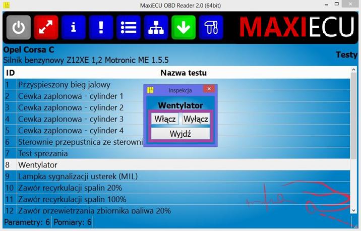 Chevrolet Pena Diagnostyka Polski Program Maxiecu Interfejs
