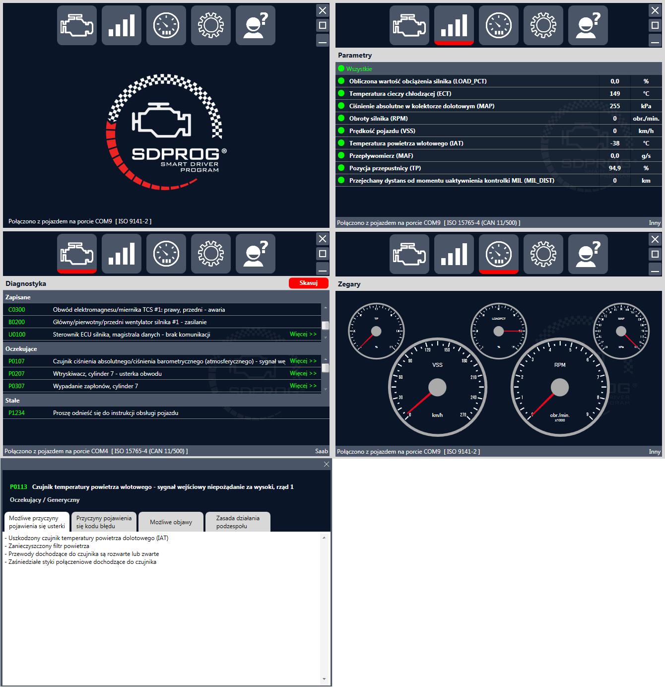 Bardzo dobry Interfejs diagnostyczny OBD2 Bluetooth + polski program SDPROG FH52